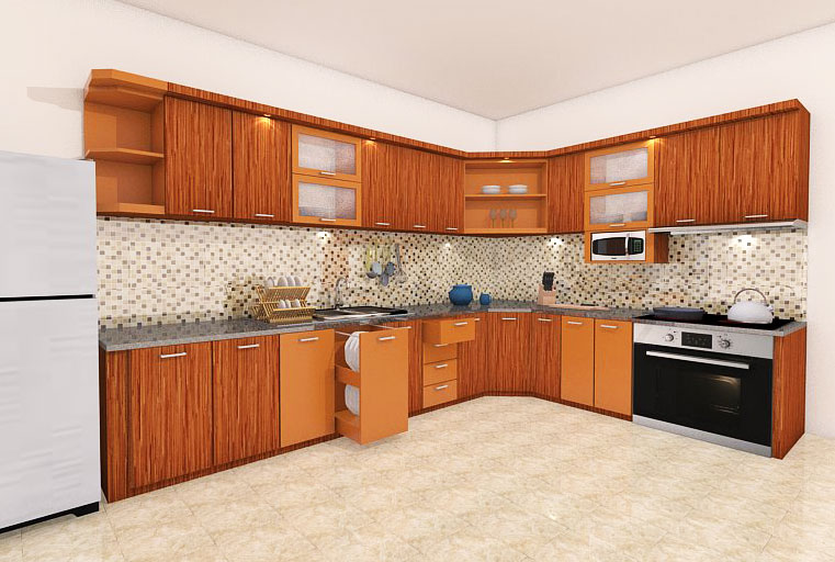 Kitchen set design desain interior for Kitchen set kayu